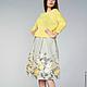 Юбки ручной работы. Ярмарка Мастеров - ручная работа. Купить юбка из купонной ткани.желтые розы. Handmade. Лимонный