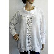 Одежда handmade. Livemaster - original item Sweater knitted mohair oversized soft snowy. Handmade.