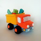 handmade. Livemaster - original item Knitted truck Soft toy truck dump Truck. Handmade.