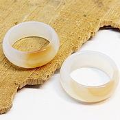 Украшения handmade. Livemaster - original item Ring white-orange agate 20 R-R. Handmade.