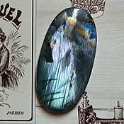 Материалы для творчества handmade. Livemaster - original item Labradorite spektrolit. Cabochon 62 X 32 X 5,5. Handmade.