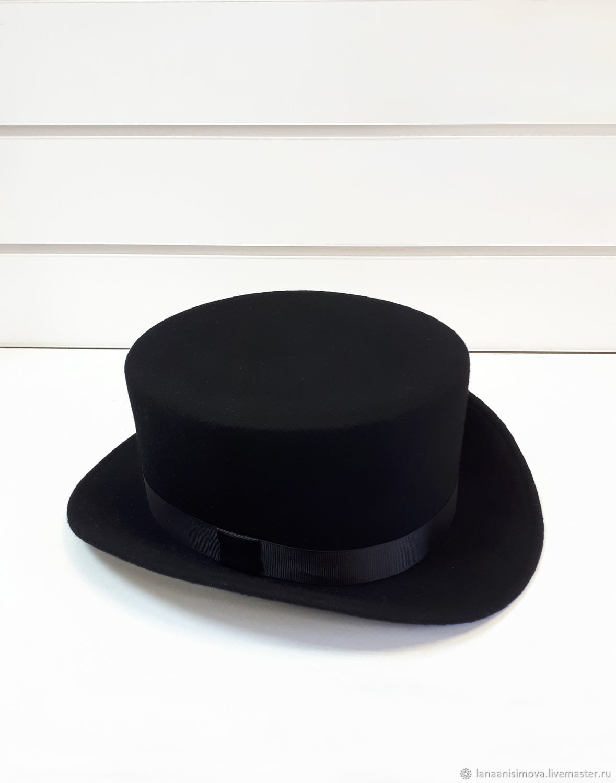 Unisex black cylinder 11 cm, Hats1, Moscow,  Фото №1