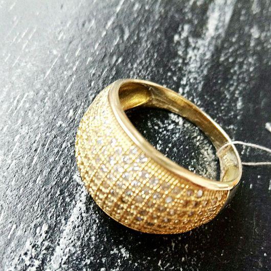 Кольца ручной работы. Ярмарка Мастеров - ручная работа. Купить Кольцо Элоизэ. Handmade. Кольцо с позолотой, кольцо серебряное