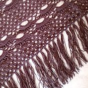 Аксессуары handmade. Livemaster - original item Chocolate shawl. Handmade.