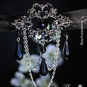 Субкультуры handmade. Livemaster - original item Night in rainy October (choker with pendants). Handmade.
