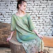 Одежда handmade. Livemaster - original item Felted dress Spring road!. Handmade.