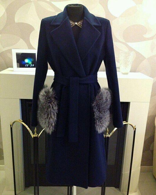 Верхняя одежда ручной работы. Ярмарка Мастеров - ручная работа. Купить Пальто с меховыми карманами. Handmade. Пальто на заказ