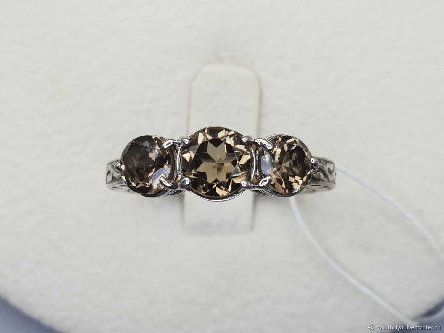 Silver ring with rauchtopazami, Rings, Moscow,  Фото №1