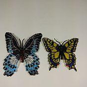 """Украшения ручной работы. Ярмарка Мастеров - ручная работа Брошь-кулон """"Бабочка"""" из бисера. Handmade."""
