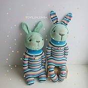"""Куклы и игрушки ручной работы. Ярмарка Мастеров - ручная работа Игрушка """"Братцы-кролики"""". Handmade."""
