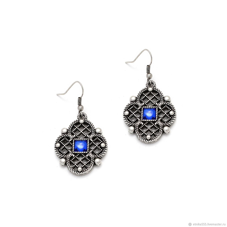 Grace dew sapphire earrings, Earrings, Belaya Cerkov,  Фото №1