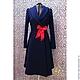 Верхняя одежда ручной работы. Ярмарка Мастеров - ручная работа. Купить Синее пальто . Handmade. Женственность, ателье, мода для полных