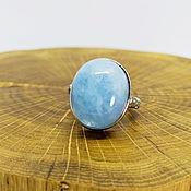 Украшения handmade. Livemaster - original item Ring split Sky of the North (beryl aquamarine). Handmade.