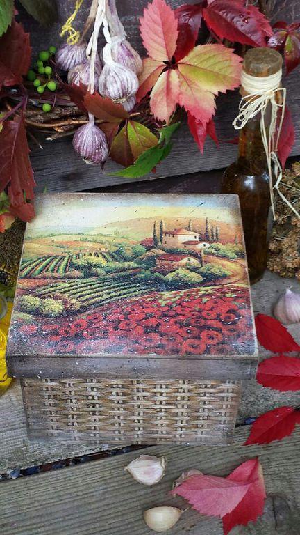 Корзины, коробы ручной работы. Ярмарка Мастеров - ручная работа. Купить ' Тоскана' Короб.. Handmade. Короб для хранения