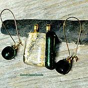 Украшения handmade. Livemaster - original item Pendant and earrings set
