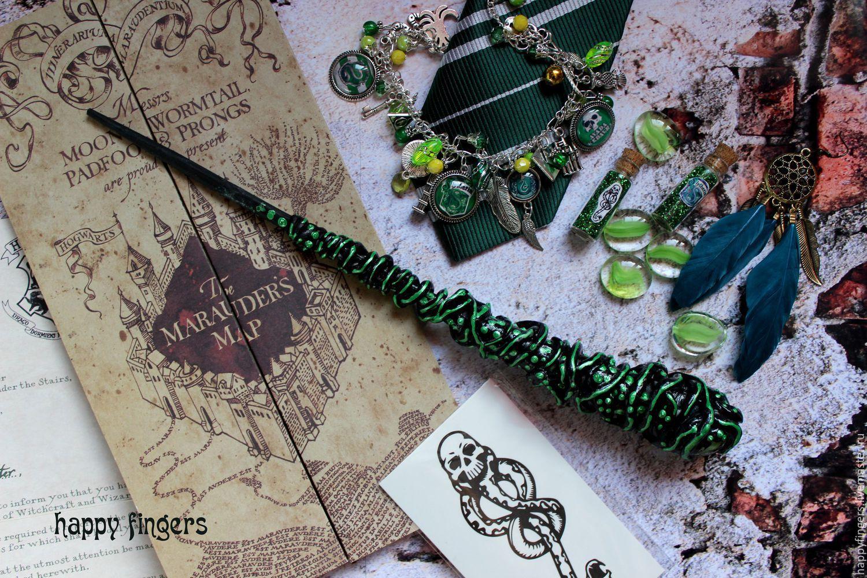 Авторская Волшебная палочка Гарри Поттер зеленая Слизерин Harry Potter, Волшебная палочка, Электросталь,  Фото №1