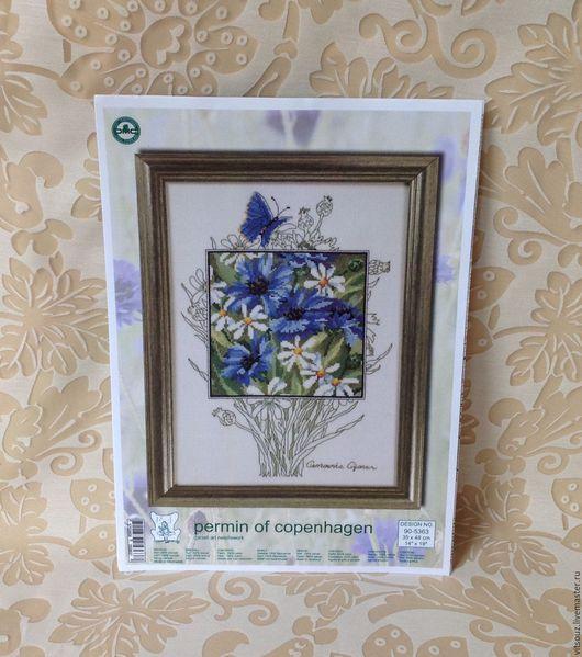 арт. 90-5363 Набор для вышивания Permin `Голубые васильки` (Blue cornflowers)