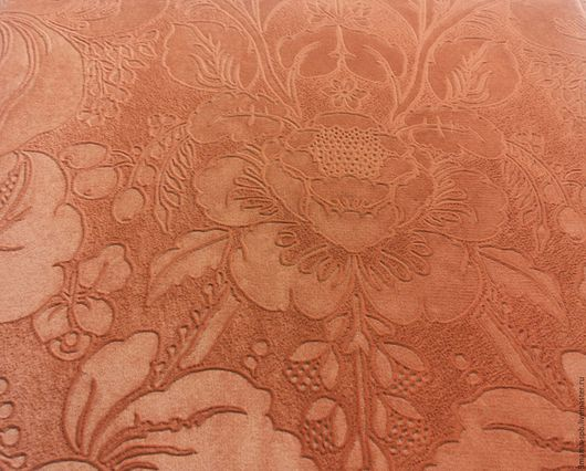 Шитье ручной работы. Ярмарка Мастеров - ручная работа. Купить Ткань мебельная, отрез 45х45. Handmade. Коралловый, мебельная ткань