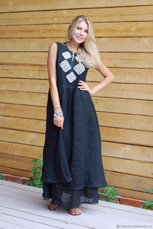 платья из льна недорого купить