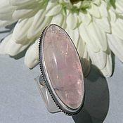 Украшения handmade. Livemaster - original item Ring with rose quartz. Silver. Handmade.