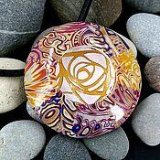 Украшения handmade. Livemaster - original item Pendant from polymer clay - Boho-UFO (colored, round, stylish). Handmade.