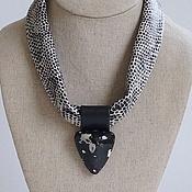 Украшения handmade. Livemaster - original item Necklace made of leather . Collection NERO. Handmade.
