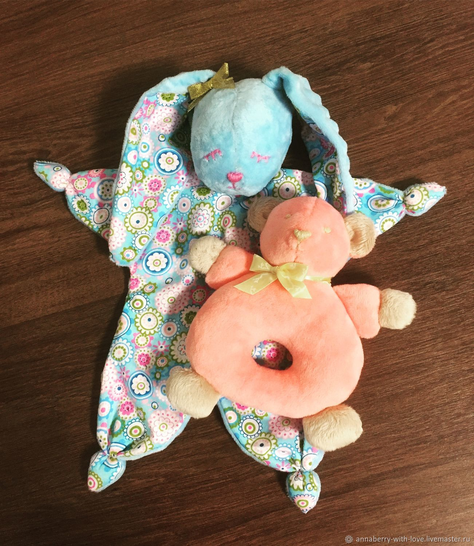 Развивающие игрушки ручной работы. Ярмарка Мастеров - ручная работа. Купить Комфортер и погремушка. Handmade. Развивающие игрушки, игрушки для новорожденных