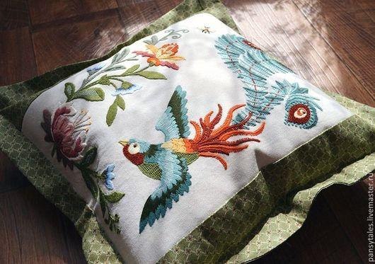 """Текстиль, ковры ручной работы. Ярмарка Мастеров - ручная работа. Купить """"Жар-птица"""". Handmade. Разноцветный, интерьер, хлопок"""