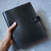 Канцелярские товары handmade. Livemaster - original item Notebook on the rings A5 natural leather. Handmade.