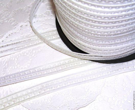 Шитье ручной работы. Ярмарка Мастеров - ручная работа. Купить Резиночка ажурная,13 мм. Handmade. Белый, ажурная резиночка