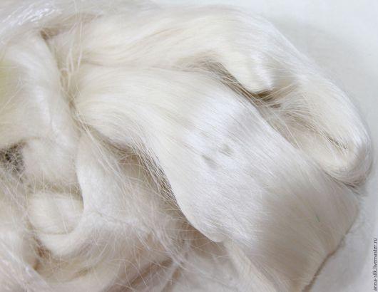 Ярмарка Мастеров. Купить шелковые волокна MULBERRY (21 Д) для валяния. Шелковые волокна малбери.  Материалы для творчества. Натуральный 100% шелк MULBERRY. Шелковые волокна для валяния малбери.