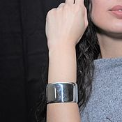 Украшения handmade. Livemaster - original item Minima Series cuff bracelet in polished 925 ASH0004 silver. Handmade.