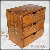 Для дома и интерьера handmade. Livemaster - original item Mini chest of drawers