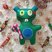 Мягкие игрушки ручной работы. Ярмарка Мастеров - ручная работа Чудной медведь. Handmade.