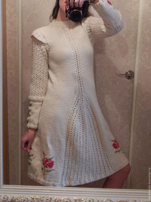 Платья ручной работы. Ярмарка Мастеров - ручная работа. Купить Белое платье Шебби-шик. Handmade. Вязаное платье
