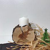 Для дома и интерьера ручной работы. Ярмарка Мастеров - ручная работа Деревянные подсвечники. Handmade.