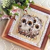 Картины и панно handmade. Livemaster - original item Two polar owlets. Handmade.