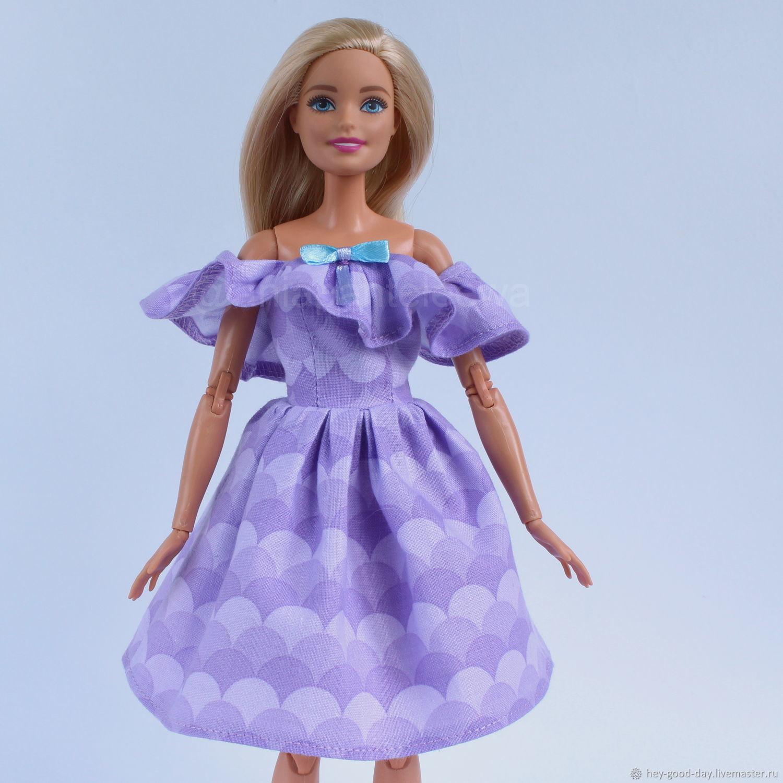 Платье для Барби. Сиреневое, Одежда для кукол, Орел,  Фото №1