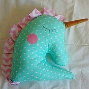 Для дома и интерьера ручной работы. Ярмарка Мастеров - ручная работа Декоративная подушка единорог мятный. Handmade.