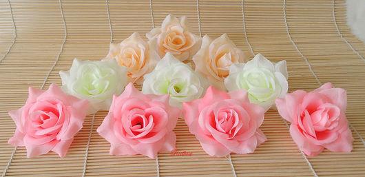 Материалы для флористики ручной работы. Ярмарка Мастеров - ручная работа. Купить Розочки Г2. Handmade. Роза из ткани, персиковые розы