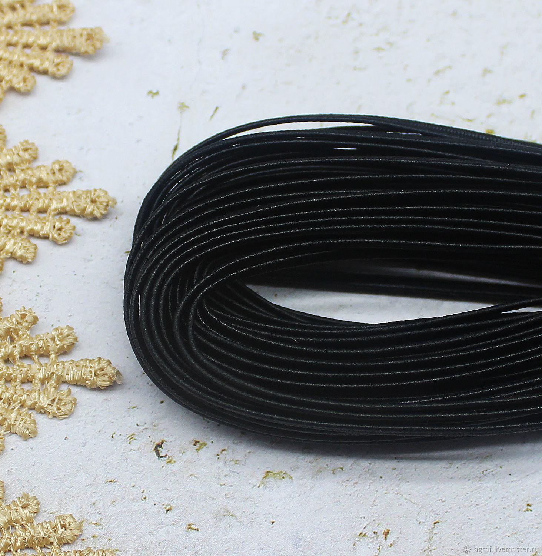 Сутаж белорусский 2,5 мм Черный  1 метр, Шнуры, Соликамск,  Фото №1