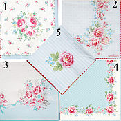 5 видов Салфетки Green gate Дания розовые, голубые