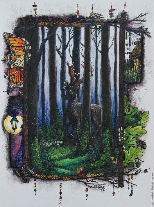 серия `The Secret Forest`  1/9 ``Предрассветные тайны` Тася Быкова