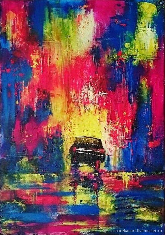 """Абстракция картина масло """"Нью Йорк"""" акрил 40х50 см, Картины, Стамбул,  Фото №1"""
