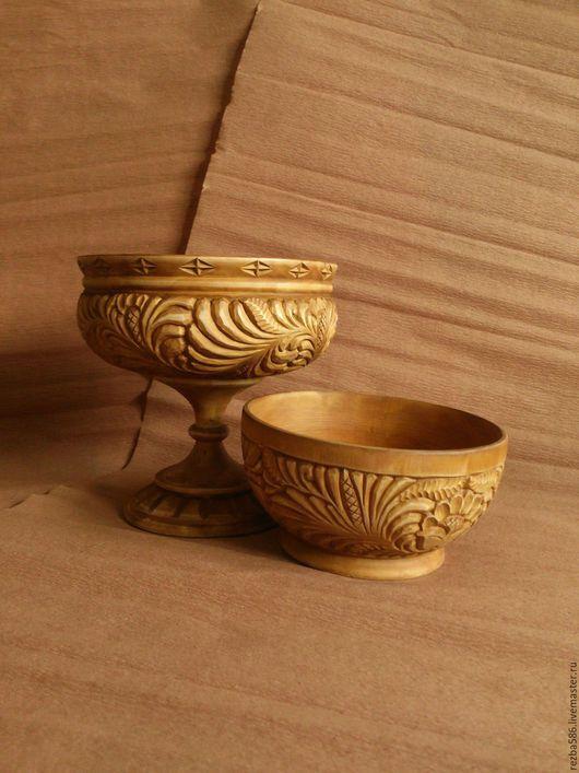 Посуда ручной работы. Ярмарка Мастеров - ручная работа. Купить Резной чайный набор. Handmade. Русский стиль, резная посуда