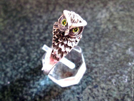 """Кольца ручной работы. Ярмарка Мастеров - ручная работа. Купить кольцо""""сова"""". Handmade. Серебряный, кольцо сова, пернатые, украшение с птицей"""