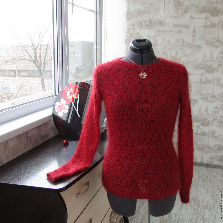 свитер из кид-мохера на шелке, Пуловеры, Астрахань, Фото №1