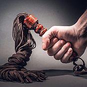 Плетка ручной работы. Ярмарка Мастеров - ручная работа Плетка кожаная флоггер 100 хвостов. Handmade.