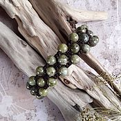 handmade. Livemaster - original item Green Quartz Braided Bracelet. Handmade.