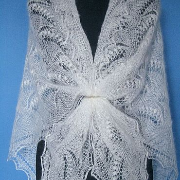 Accessories handmade. Livemaster - original item 236 Klondike down openwork Orenburg shawl accessories. Handmade.